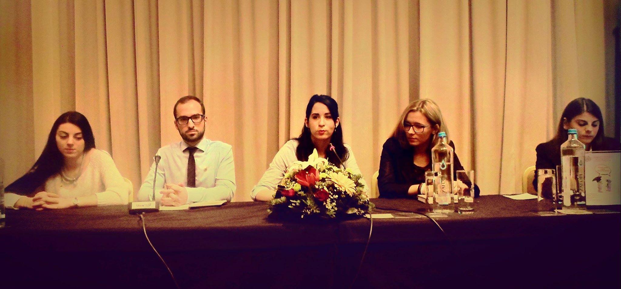 Η κ. Τσουκαλά Χριστίνα (μέλος ΔΣ), ο Σταθόπουλος Χρήστος (HR Manager), η Κοντορλή Αλκμήνη (Event Manager) και η Γαλήνη Τριανταφύλλου (μέλος ΔΣ)